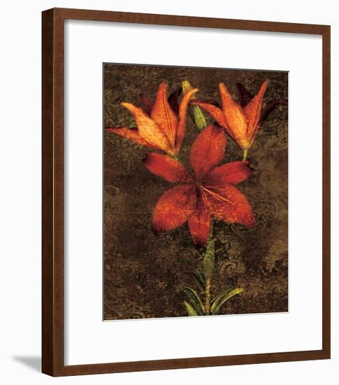 Red Lilies-John Seba-Framed Giclee Print
