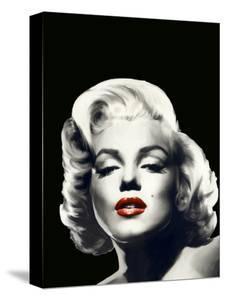 Red Lips Marilyn In Black