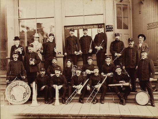 Red Men Band Deadwood, South Dakota 1890s--Art Print