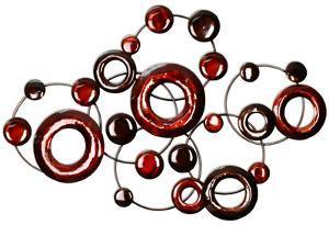 Red Metallic Circles