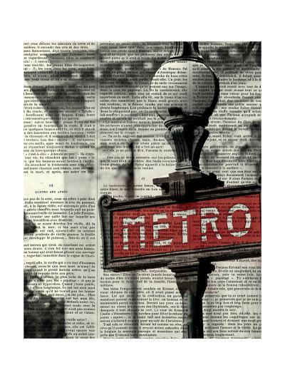 Red Metro I Crop-Marc Olivier-Art Print
