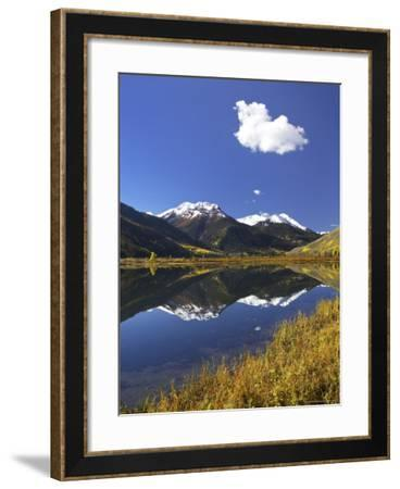 Red Mountain Reflected in Crystal Lake, Near Ouray, Colorado-James Hager-Framed Photographic Print