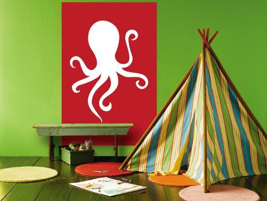 Red Octopus-Avalisa-Wall Mural