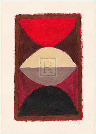 Red on Black-B O'Casey-Art Print