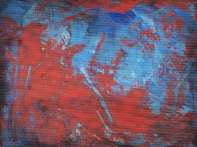 Red on Blue-Tim Nyberg-Giclee Print