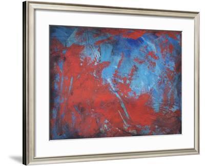 Red on Blue-Tim Nyberg-Framed Giclee Print