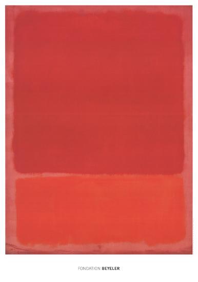 Red (Orange)-Mark Rothko-Art Print