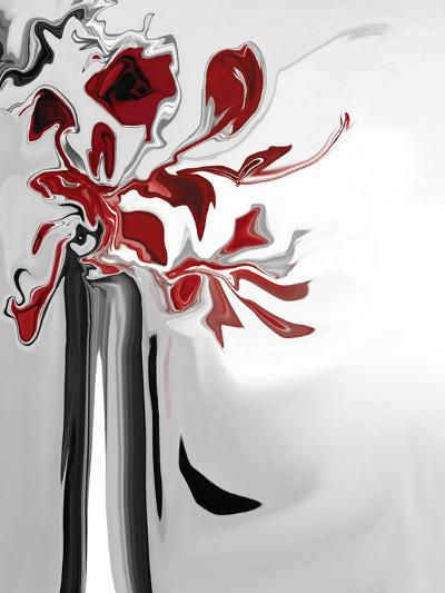 Red Orchid 2-Rabi Khan-Art Print