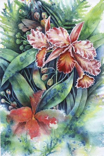 Red Orchid-Michelle Faber-Giclee Print