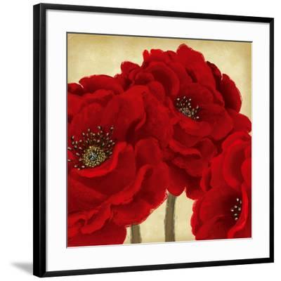 Red Peony II-Linda Wood-Framed Art Print