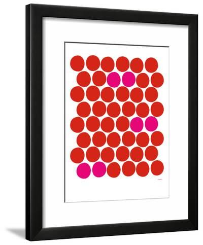 Red Pink Dots-Avalisa-Framed Art Print