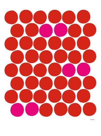 Red Pink Dots-Avalisa-Art Print