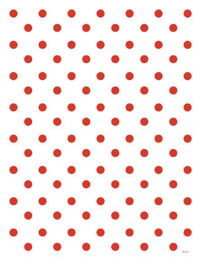 Red Polk-a-dots-Avalisa-Art Print