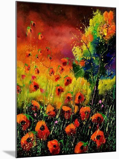 Red Poppies 451130-Pol Ledent-Mounted Art Print