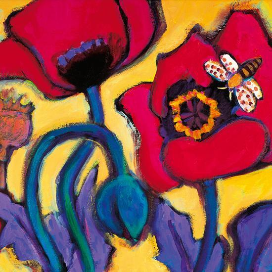 Red Poppies-Gerry Baptist-Giclee Print