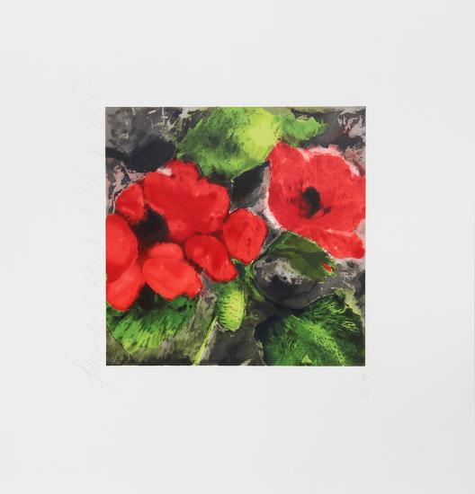 Red Poppies-Donald Sultan-Limited Edition