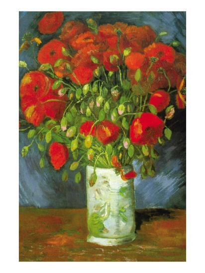 Red Poppies-Vincent van Gogh-Art Print