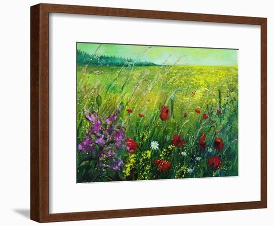 Red poppies-Pol Ledent-Framed Art Print