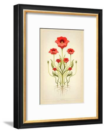 Red Poppies--Framed Premium Giclee Print