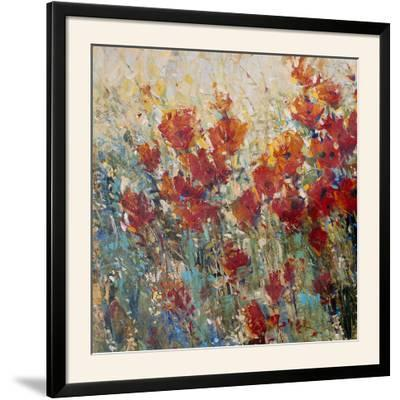 Red Poppy Field I-Tim O'toole-Framed Photographic Print