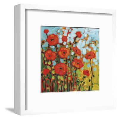 Red Poppy Field-Jennifer Lommers-Framed Art Print
