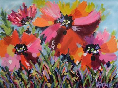 Red Poppy Field-Pamela Gatens-Art Print