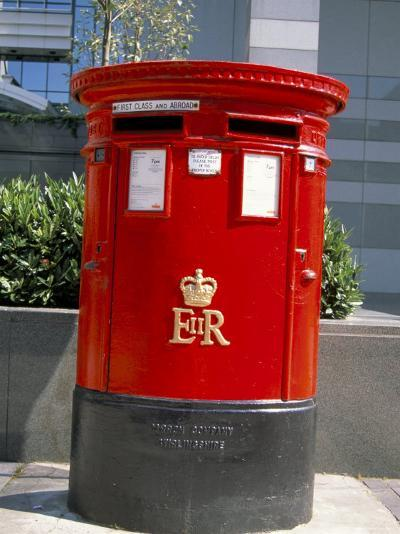 Red Post Box, London, England, United Kingdom-Nelly Boyd-Photographic Print