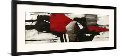 Red Profile-Jim Stone-Framed Art Print