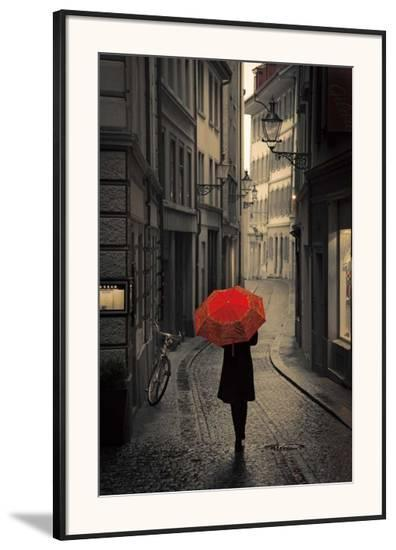 Red Rain-Stefano Corso-Framed Art Print