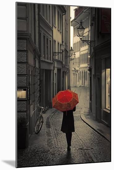 Red Rain-Stefano Corso-Mounted Print