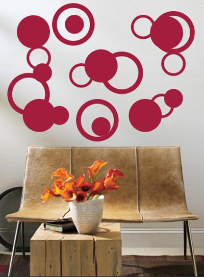 Red Rings--Wall Decal