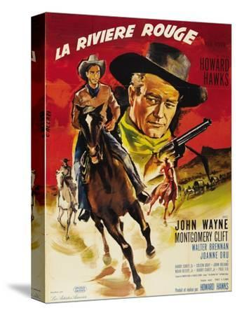 Red River, French Movie Poster, 1948