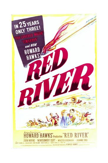 Red River - Movie Poster Reproduction--Art Print