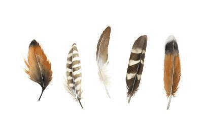 Red Rock Feathers I-Grace Popp-Art Print
