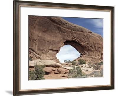 "Red Rock ""Window"" at Arches National Park, Moab, Utah-Carol Highsmith-Framed Photo"
