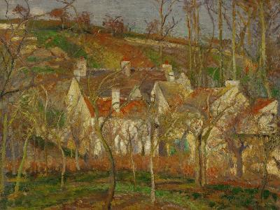 Red Roofs, a Village Corner, Winter, 1877-Camille Pissarro-Giclee Print
