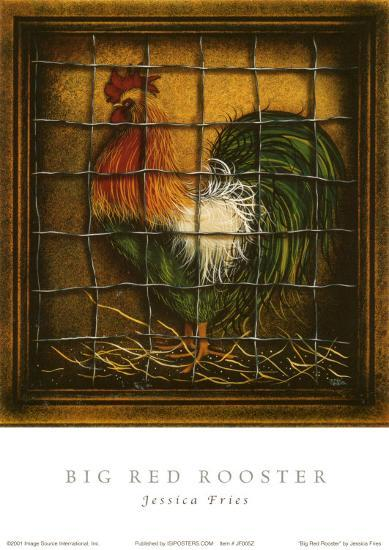 Red Rooster-Jessica Fries-Art Print
