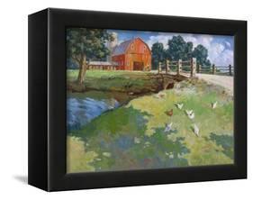 Red Rooster-Hal Frenck-Framed Premier Image Canvas