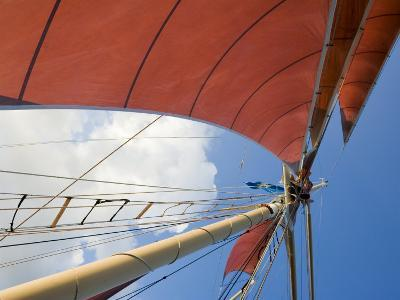 Red Sails on Sailboat That Takes Tourists out for Sunset Cruise, Key West, Florida, USA-Robert Harding-Photographic Print