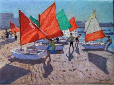 Red Sails, Royan, France-Andrew Macara-Giclee Print