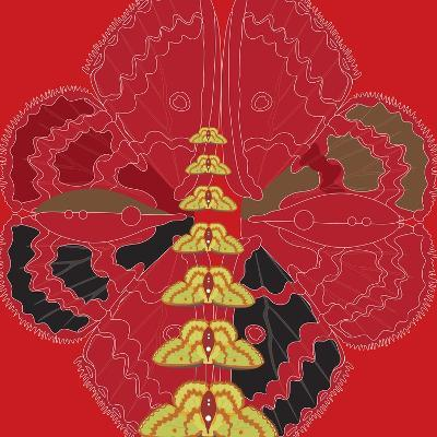 Red Shade Zuca Fantasy-Belen Mena-Giclee Print