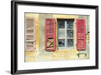 Red Shutters-Cora Niele-Framed Photographic Print
