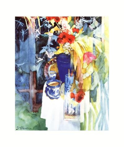 Red Silk Poppies-Shirley Trevena-Art Print