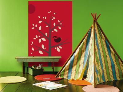 Red Songbird-Avalisa-Wall Mural