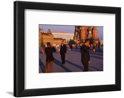 Red Square near St. Basils. Moscow in evening light, c1970s-CM Dixon-Framed Photographic Print