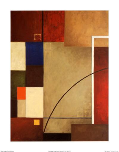 Red Squares I-William Verner-Art Print