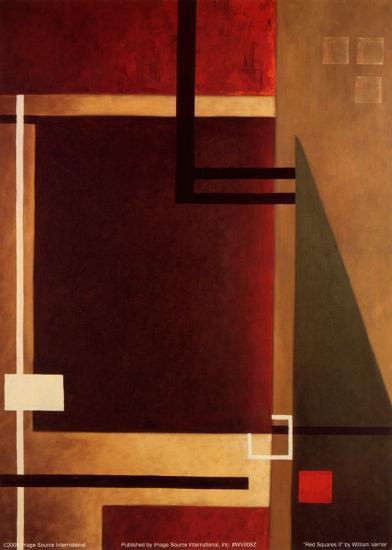 Red Squares II-William Verner-Art Print