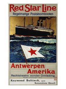Red Star Line, Antwerpen America, c.1899