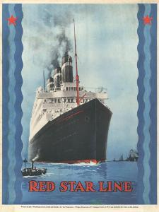 Red Star Lines, Cruise Ships, Ocean Liners, USA, 1930