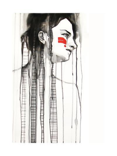 Red Stripes--Art Print